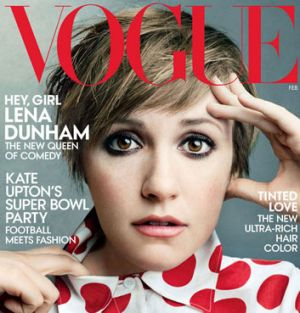 Lena Dunham on the cover of 'Vogue'.