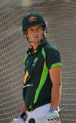 Meg Lanning training in Melbourne on Wednesday.