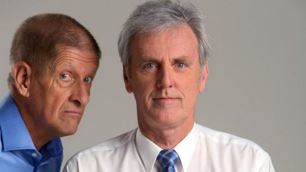 Winter sports experts ... H.G. Nelson and 'Rampaging' Roy Slaven, aka Greig Pickhaver and John Doyle, are back with ...