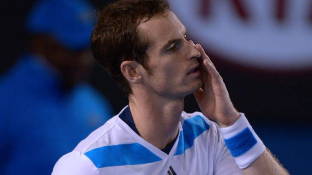 Upset: Andy Murray thought the ball bounced twice.
