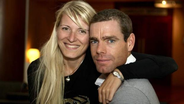 Chiara Passerini, pictured with Cadel Evans, was not happy with Danilo Di Luca's comments.