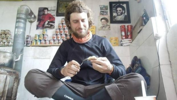 """""""Enjoying the Iranian food"""": Javier Colorado escaped serious injury in shooting. <i>Image via his Facebook page.</i>"""