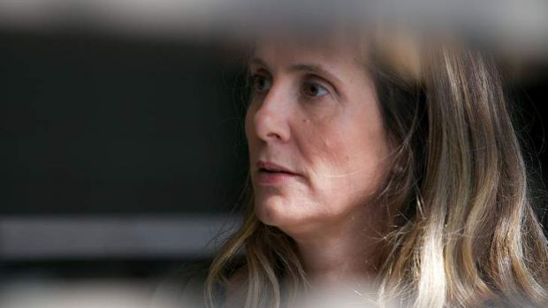 Kathy Jackson arrives at court to give evidence in the case against former federal MP Craig Thomson.