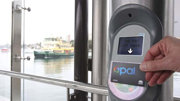 Only five per cent of ferry customers are using the Opal card.