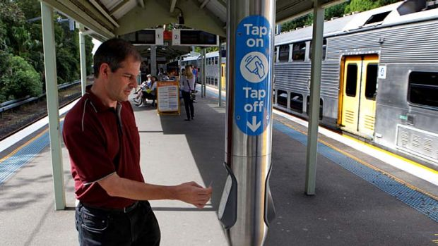 Tapping on: the Opal card system is now working at all train stations.