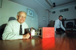 Father of invention ... Dave Warren and the black box flight recorder.