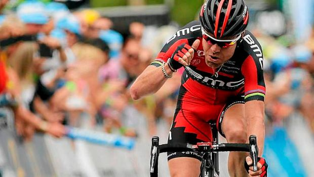 Solo ride: Cadel Evans wins stage three of the Tour Down Under.