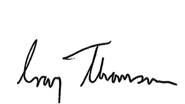 Craig Thomson's signature.