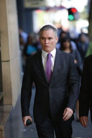 Work trips: Craig Thomson outside court on Thursday.