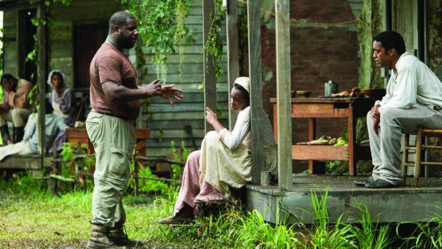 McQueen on the set of <i>12 Years a Slave</i>.