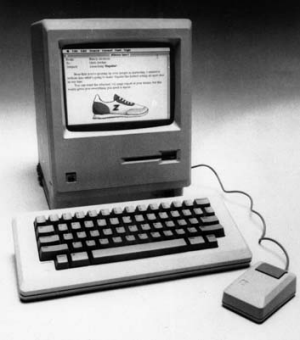 The Apple Macintosh that was unveiled in 1984.