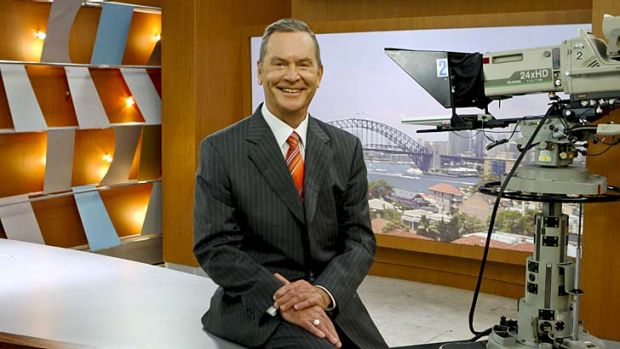 Hopeful: Ian Ross as he retired from Channel Seven in 2009.