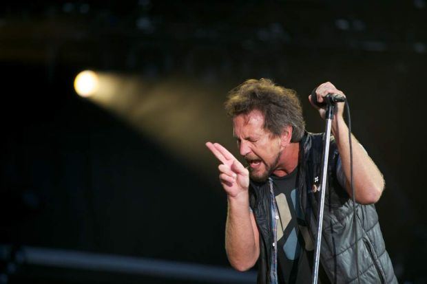 Eddie Vedder from Pearl Jam performs at the Big Day Out in Melbourne.
