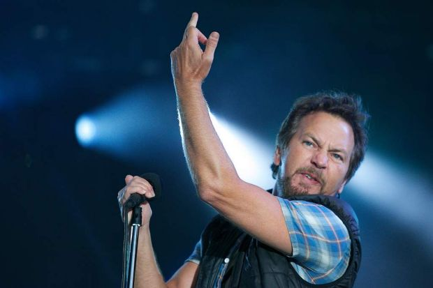 Eddie Vedder from Pearl Jam performs at the Big Day Out Melbourne.