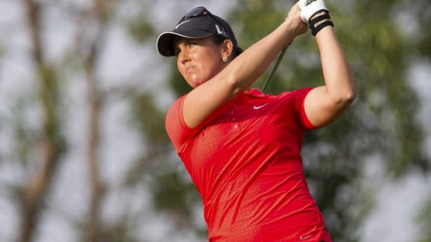 Solid: Kristie Smith has solved some issues with her short game.