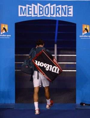 Sent packing: Switzerland's Roger Federer.
