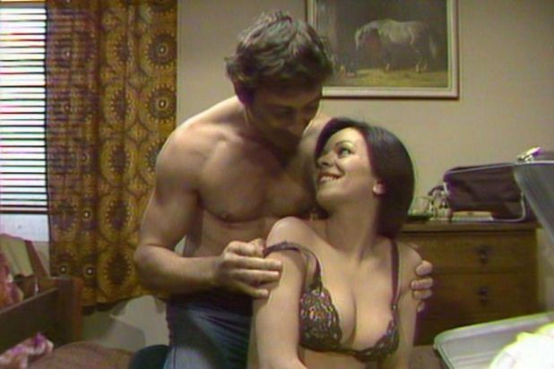 Naughty: Dennis Millar with Chantal Contouri, who played the 'pantyhose strangler' in Number 96.