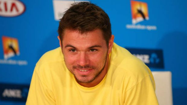 Wawrinka looks relaxed ahead of Sunday's men's final.
