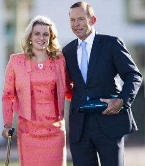 Young Australian of the Year, Paralympian swimmer, Jacqueline Freney with Tony Abbott.