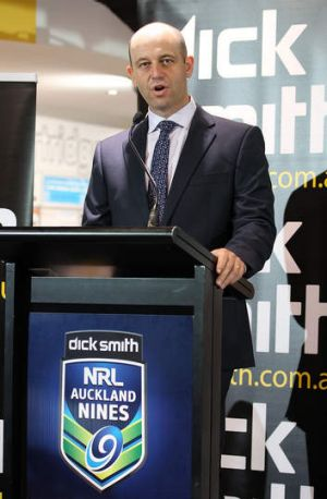 Todd Greenberg during the NRL Auckland Nines jersey launch.