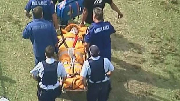 A woman is in a serious condition after a boat propeller sliced through her leg.