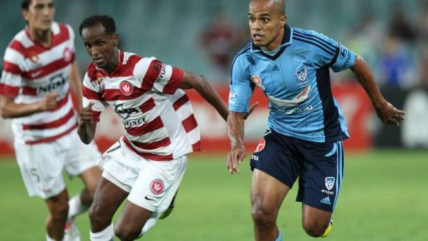 Changing faces: Fabio Alves on the run against the Wanderers last season.