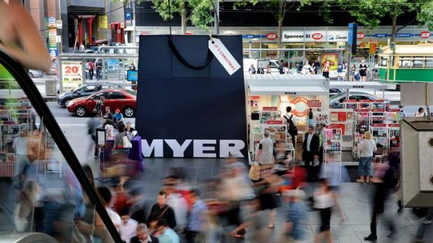 A Myer pop-up shop at Southern Cross station.
