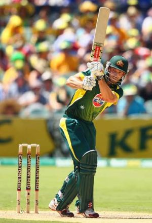 Shaun Marsh made a patient 36 in the one-day game in Adelaide.