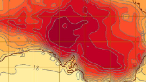 Heatwave takes on a ghoulish view on Wednesday, according to computer models.