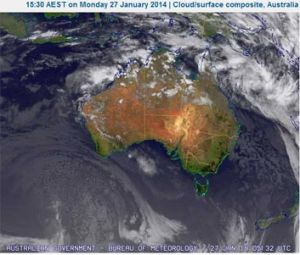 Satellite image of potential cyclone Dylan