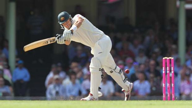 Scoreline: Shane Watson averaged 20 and passed 50 only once in the first innings of the home series.
