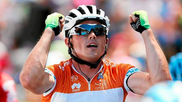 Full cycle: Australian cyclist Simon Gerrans celebrates victory in the Tour Down Under.