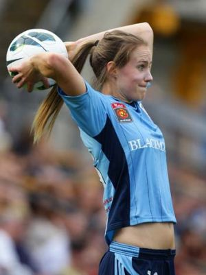Perry in action in the W-League.