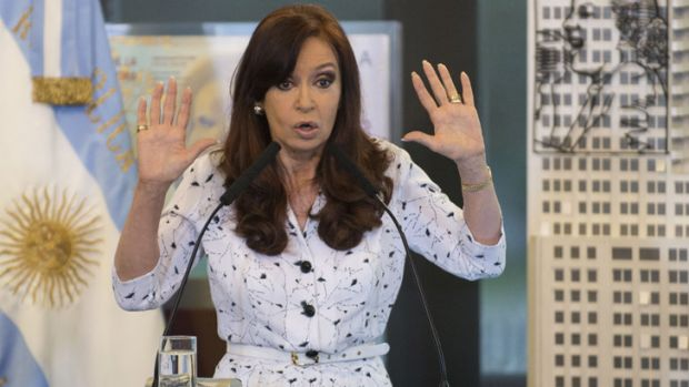 Argentine President, Cristina Fernandez de Kirchner, delivers a speech for the first time in 42 days on January 22.