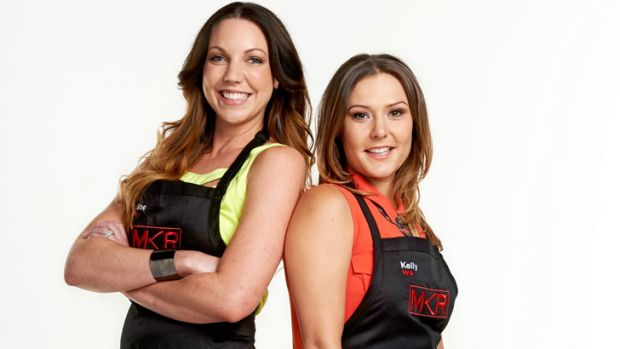 <em>My Kitchen Rules</em> contestants Chloe James and Kelly Ramsay.