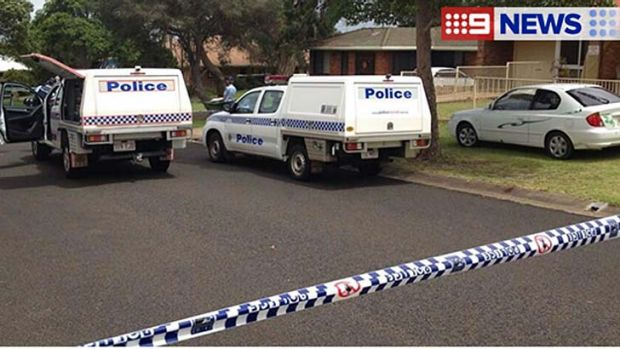 Police officers are at the crime scene in Toowoomba.