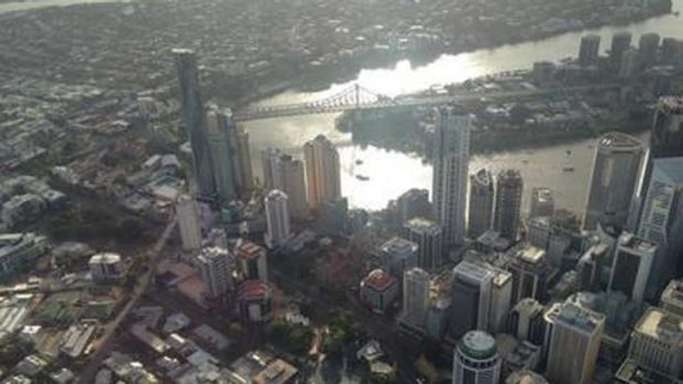 An early morning view of Brisbane.
