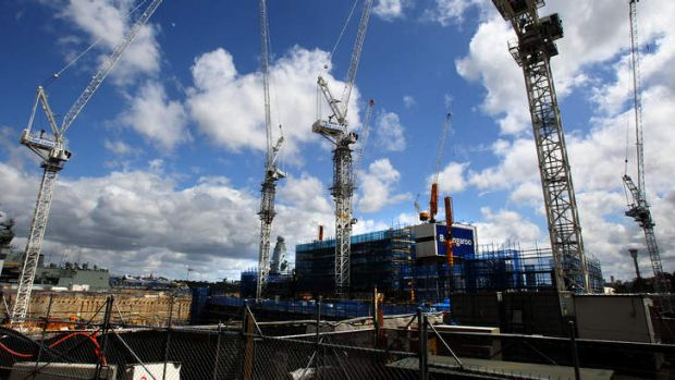 The site at Barangaroo: Found to be using contract labour from a company controlled by crime figure, George Alex.