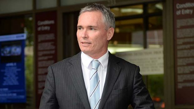 Craig Thomson leaving the Melbourne Magistrates Court on Tuesday.