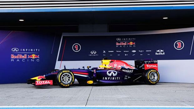 Red Bull's new RB10 Formula One car.