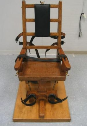 The electric chair which Virginia provides as an alternative to lethal injection.