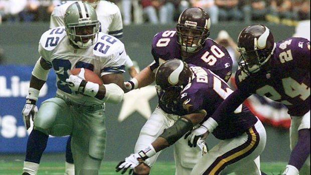 Dallas Cowboys running back Emmitt Smith.