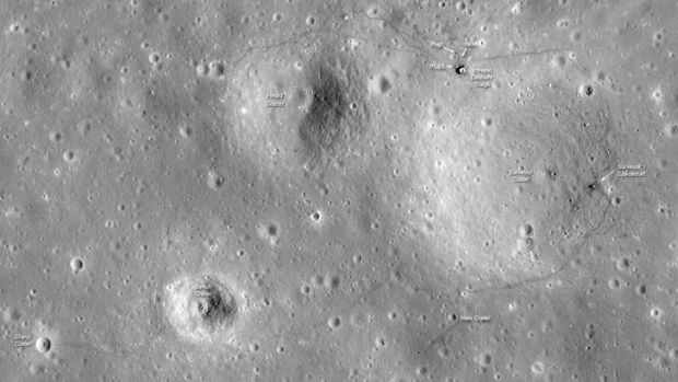 The Apollo 12 landing site in Oceanus Procellarum imaged during the second LRO low-altitude