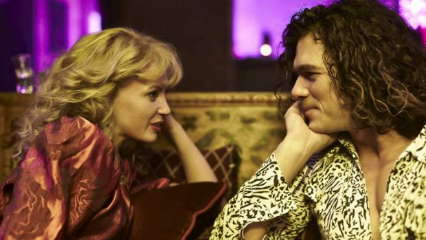 """Not sure Kylie would approve ... INXS 'the untold story' draws Michael Hutchence and Kylie together over """"lunch""""."""