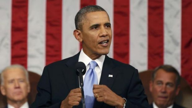 """""""Inequality has deepened"""": Barack Obama delivers his State of the Union speech."""
