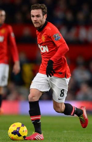 Juan Mata during his first outing for his new club.