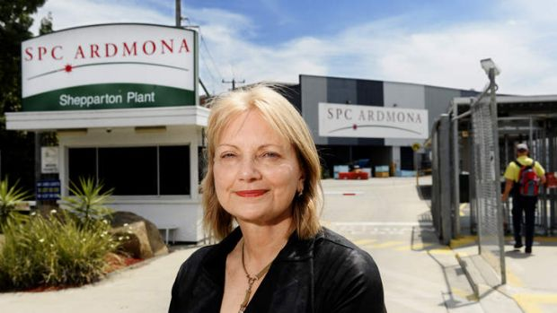 Local MP Dr Sharman Stone at the SPC Ardmona plant in Shepparton in Victoria. She wants the government to provide $25 ...