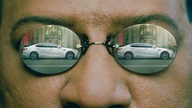 Laurence Fishburne revisits his role as Morpheus in a Matrix-themed ad for Kia.
