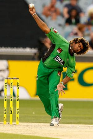Back in action: Lasith Malinga will play in the semi-final for the Stars.
