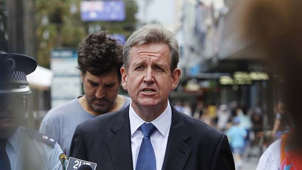 NSW Premier Barry O'Farrell: Facing conflict from within his own government over mandatory sentencing for ...